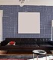 Glyphs,-col.03-Buchstaben-Quadrate/Rechtecke-Moderne-Muster-KinderTapeten-Blau-Weiß