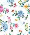 Goodevening,-col.-100-Blumen-Blätter-Fauna-Florale-Muster-Multicolor