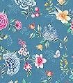Goodevening,-col.-5-Blumen-Blätter-Fauna-Florale-Muster-Multicolor