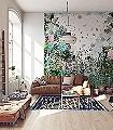 Grüß-Gott-von-Sara-Ginolas-Tiere-Zeichnungen-Collage-Florale-Muster-FotoTapeten-Multicolor