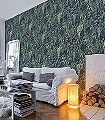 Green-wall,-col.-2-Blätter-Florale-Muster-Multicolor