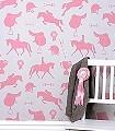 Gymkhana,-Sand-Tiere-Gegenstände-KinderTapeten-Rosa-Creme