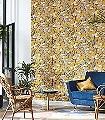 Habana,-col.-20-Blumen-Blätter-Äste-Früchte-Florale-Muster-Blau-Gelb-Rosa-Olive-Creme
