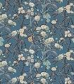 Habana,-col.-4-Blumen-Blätter-Äste-Früchte-Florale-Muster-Blau-Olive-Creme-Ocker