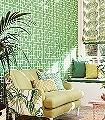 Hampton-Trellis,-col.-60-Graphisch-Klassische-Muster-Grün-Silber-Weiß