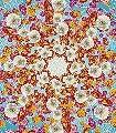 Happiness-Ornamente-Blumen-FotoTapeten-Orange-Rosa-Türkis-Creme