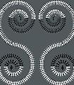 Harvest-Dance,-iron-grey-Ornamente-Figuren-Moderne-Muster-Orientalisch-Anthrazit-Schwarz-Weiß