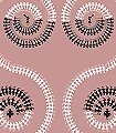 Harvest-Dance,-peachpink-Ornamente-Figuren-Moderne-Muster-Orientalisch