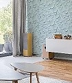 Hellat,-col.04-Kreise-Punkte-3D-Tapeten-Moderne-Muster-mint