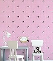 Hello-Kitty-Pink-Polka-Dots-Punkte-Figuren-KinderTapeten