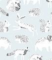 Helma,-col.-1-Tiere-Fauna-KinderTapeten-Anthrazit-Weiß-Hellblau