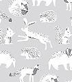 Helma,-col.-60-Tiere-Fauna-KinderTapeten-Grau-Anthrazit-Weiß