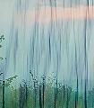 Herbstfarbenrausch-1-Bäume-Schemen/Silhouetten-Florale-Muster-FotoTapeten-Grün-Lila