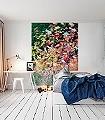 Herbstfarbenrausch-4-Blätter-Schemen/Silhouetten-Florale-Muster-FotoTapeten-Multicolor