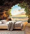 Hide-Out-Bäume-Strand-FotoTapeten-Multicolor
