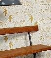 High-Wire,-mustard-Tiere-Figuren-Text-Sterne-Moderne-Muster-Weiß-Ocker