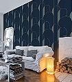 High-walls,-col.-07-Graphisch-Grafische-Muster-Art-Deco-Blau-Gold-Türkis