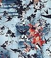 Hirondelles,-col.02-Blätter-Vögel-Florale-Muster-Grün-Orange-mint