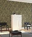 Hollywood-Palm,-col.-1-Blumen-Blätter-Florale-Muster-Gold-Schwarz