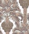 Hollywood-Palm,-col.-2-Blumen-Blätter-Florale-Muster-Gold-Braun-Bronze-Creme