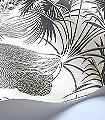 Hollywood-Palm,-col.-3-Blumen-Blätter-Florale-Muster-Gold-Silber-Schwarz-Bronze