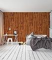 Holztapete,-eibe-europäisch-Holz-Vertäfelung-Moderne-Muster-Braun