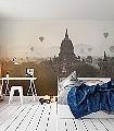 Hot-Air-Ballons-Gebäude-FotoTapeten-Braun-Weiß
