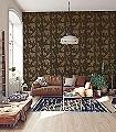 How-it-works,-green-Figuren-Fauna-KinderTapeten-Grün-Gold