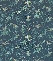 Hummingbirds,-col.-4-Blumen-Tiere-Vögel-Fauna-Florale-Muster-Schwarz-Multicolor