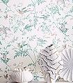 Hummingbirds,-col.-6-Blumen-Tiere-Vögel-Fauna-Florale-Muster-Weiß-Multicolor