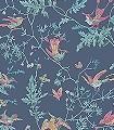 Hummingbirds,-col.68-Blumen-Tiere-Vögel-Fauna-Florale-Muster-Anthrazit-Multicolor