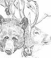 Hybrid_1-Tiere-Figuren-Zeichnungen-Moderne-Muster