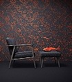INDIGO-MACAQUE-Tiere-Berge-Moderne-Muster-Orange