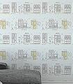 Idita,-col.09-Gebäude-Zeichnungen-KinderTapeten-Grün-Grau-Gelb-Weiß-Flieder