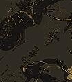 Iguana,-bronze&gold-on-brown-Tiere-Moderne-Muster-Schwarz