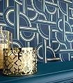 Impass,-col.-01-Graphisch-Grafische-Muster-Art-Deco-Blau-Gold