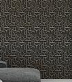 Impass,-col.-08-Graphisch-Grafische-Muster-Art-Deco-Gold-Anthrazit-Schwarz