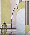 Impression-D'Orient,-col.-2-Bögen-Linie-Formen-FotoTapeten-Grafische-Muster-Gelb-Rosa-Schwarz-Weiß
