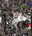 Ink-Forest-Tiere-Bäume-Blätter-Vögel-Florale-Muster-Schwarz-Weiß-Multicolor