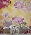 Inspiration-Blumen-Großmotiv-Florale-Muster-FotoTapeten-Gelb-Rosa-Pink