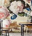 Iwanka-Blumen-Landschaft-Figuren-Großmotiv-Florale-Muster-FotoTapeten-Creme-Multicolor-Hellbraun