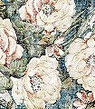 Jacquard-Blumen-Antik-Florale-Muster-Blau