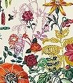 Jardin-Creme-Blumen-Tiere-Blätter-Großmotiv-FotoTapeten-Creme-Multicolor