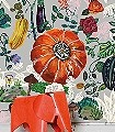 Jardin-Gris-Blumen-Tiere-Blätter-Großmotiv-FotoTapeten-Grau-Multicolor