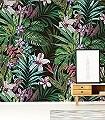 Jardin-Tropical-Pana-Blumen-Blätter-Florale-Muster-FotoTapeten-Multicolor