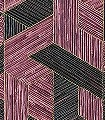Juego-de-paja,-col.-6-Graphisch-Moderne-Muster-Anthrazit-weinrot