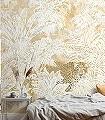 Jungle-Maze-Tiere-Bäume-Blätter-Vögel-Fauna-Florale-Muster-FotoTapeten-Multicolor