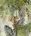 Jungle-greenery,-col.-1-Tiere-Bäume-Landschaft-Blätter-Vögel-Fauna-Florale-Muster-Moderne-Muster-FotoTapeten-Multicolor