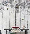 Jungle-moon,-col.-1-Tiere-Bäume-Landschaft-Blätter-Vögel-Fauna-Florale-Muster-Moderne-Muster-FotoTapeten-Multicolor