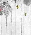 Jungle-moon,-col.-2-Tiere-Bäume-Landschaft-Blätter-Vögel-Fauna-Florale-Muster-Moderne-Muster-FotoTapeten-Multicolor